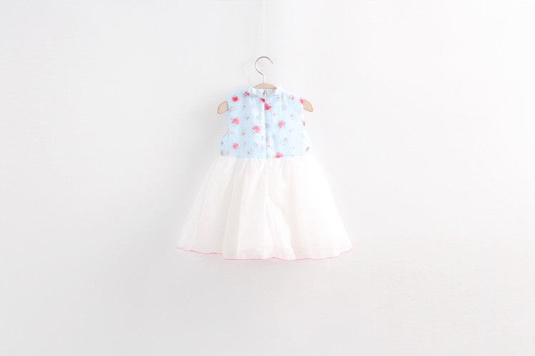 1-8Y Girls Cheongsam Tulle Dress A200C11A