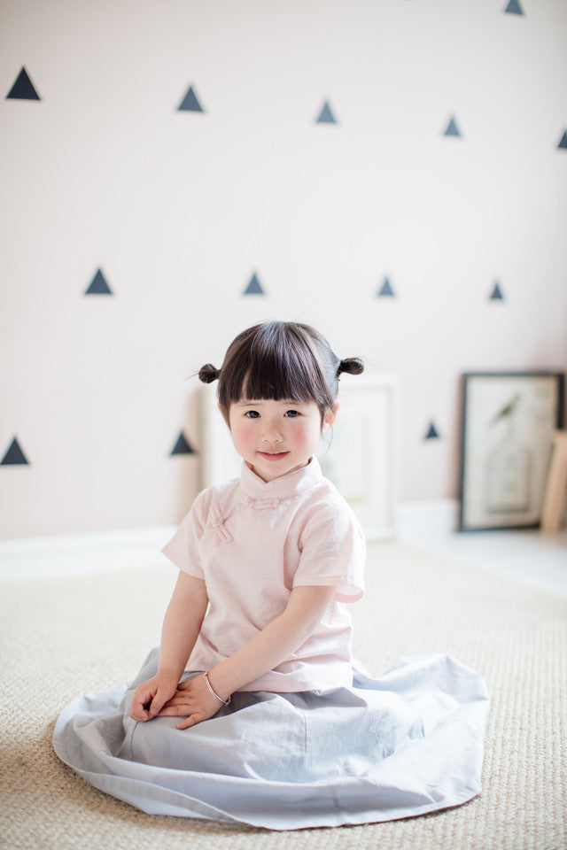 1-6Y Girls Cheongsam Top Kids Cheongsam Top A200C21B (Mother sizes available)