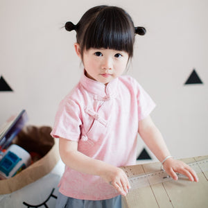 1-6Y Girls Cheongsam Top Kids Cheongsam Top A200C21A (Mother sizes available)