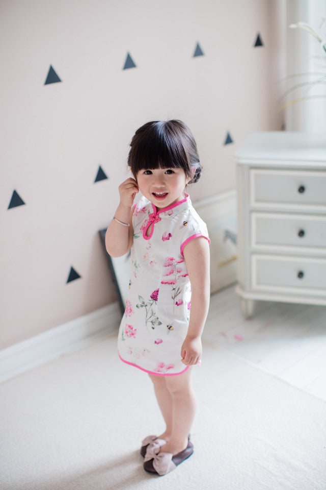 2-8Y Girls Chiffon Cheongsam Dress A200C11I