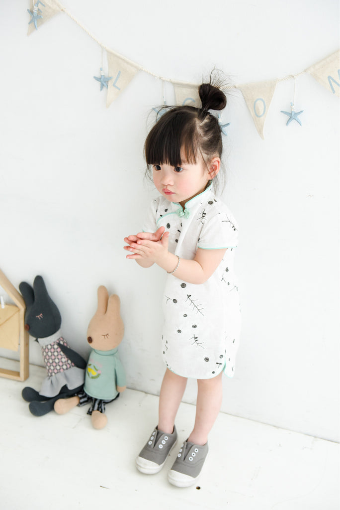 1-6Y Girls Cheongsam Dress Kids Cheongsams A200C19M
