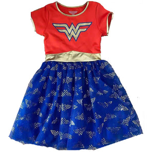 2-6Y Girls Wonder Woman Dress with Cape A20134J