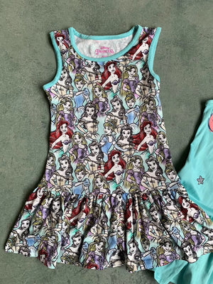 Girls Princesses Hem Dress A20136F