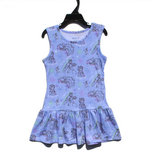 Girls Frozen II Hem Dress A20136H