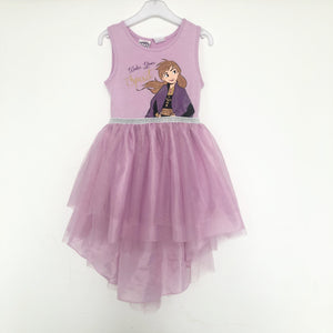 Girls Frozen Anna Asymmetrical Tulle Dress A20137B