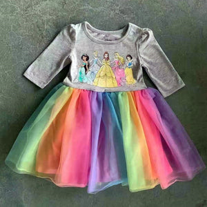 Princesses Rainbow Tulle Dress A20137G