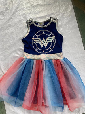 Girls Superhero Wonder Woman Tulle Dress A20138B