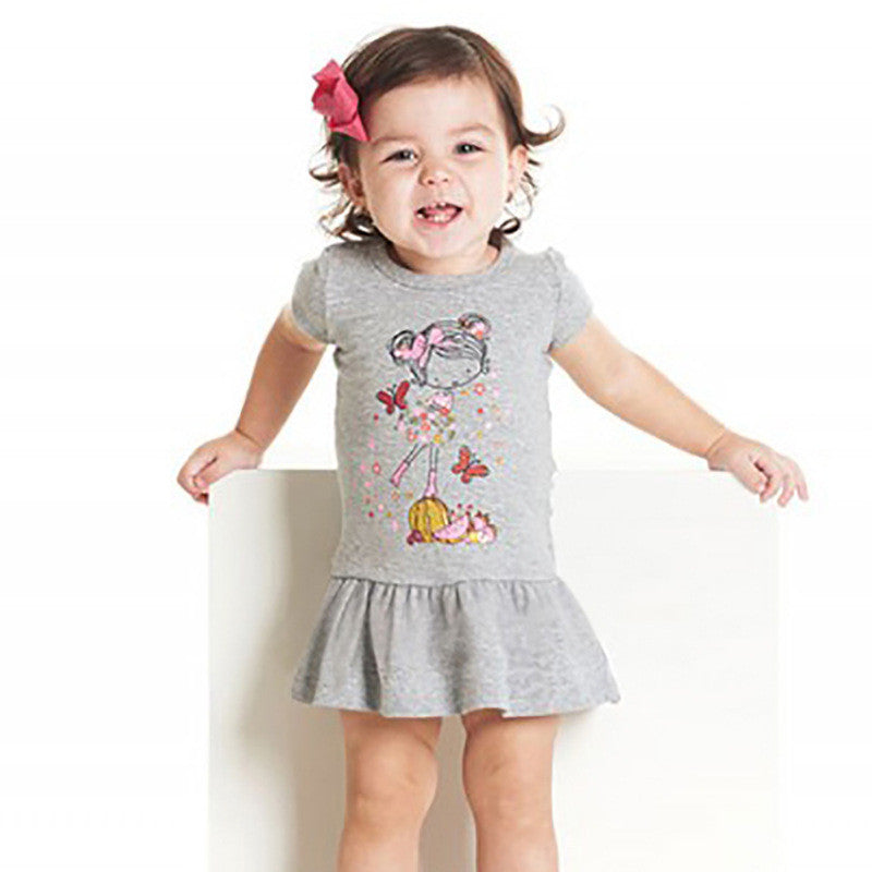 1-6Y Girls Little Maven Grey Dress A2014B