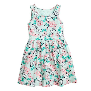 2-7Y Girls Sleeveless Butterfly Dress A2014M