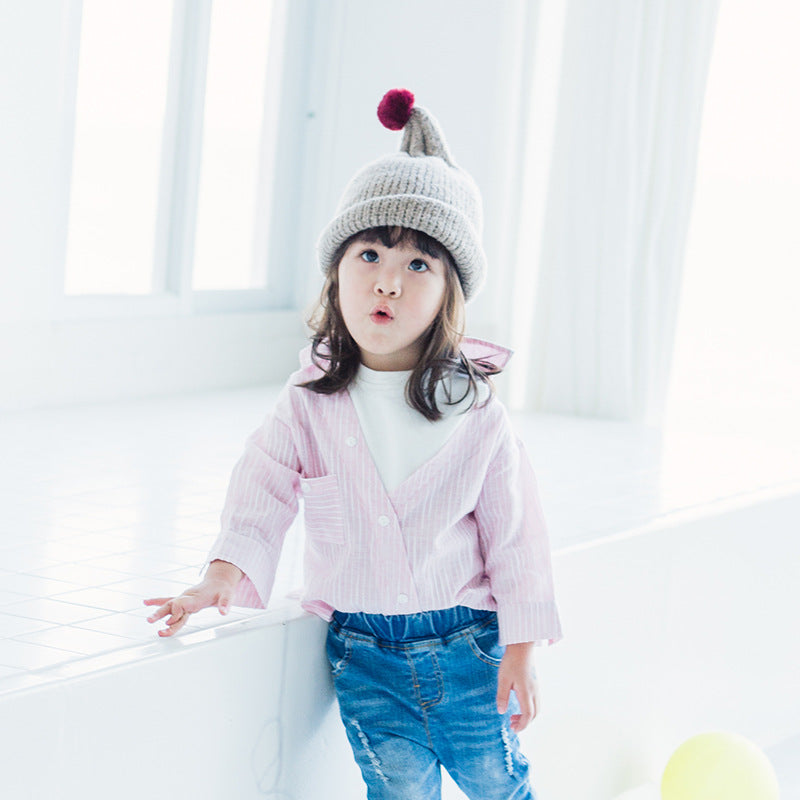 1-6Y Kids Pink and White Shirt A20211I