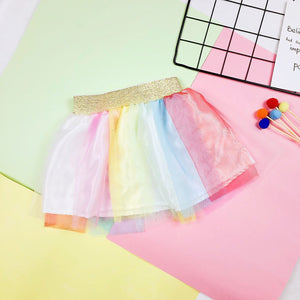 1-6Y Girls Rainbow Tutu Skirt A20412F