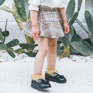 1-6Y Girls Checker Skirt A2046E