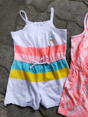 Girls Summer Tropical Rainbow Romper A20511B