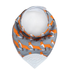 Baby Bandana Drool Bib with attached Chewable Teether A32121B