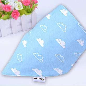 Set of 2pcs 100% organic HiSprout Baby Bandana Bibs with Adjustable Snaps A321DA
