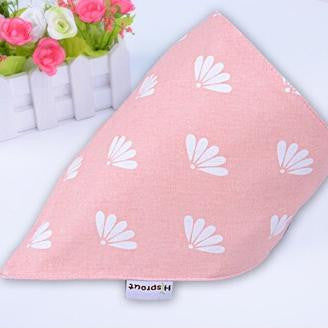 Set of 2pcs 100% organic HiSprout Baby Bandana Bibs with Adjustable Snaps A321DD