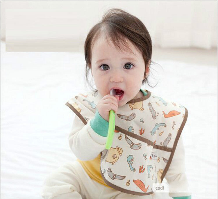 Waterproof Korean Fashion Baby Food Catcher Bib A321FC