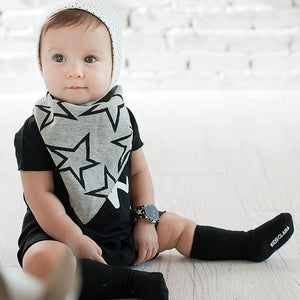 Baby Reversible Bandana Drool Bib Triangle Bib with Adjustable Snaps A321G