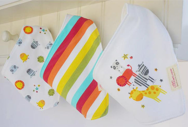 Set of 3 Baby Bandana Drool Mom's Care Bibs A321GA