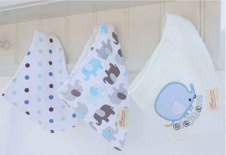 Set of 3 Baby Bandana Drool Mom's Care Bibs A321GB