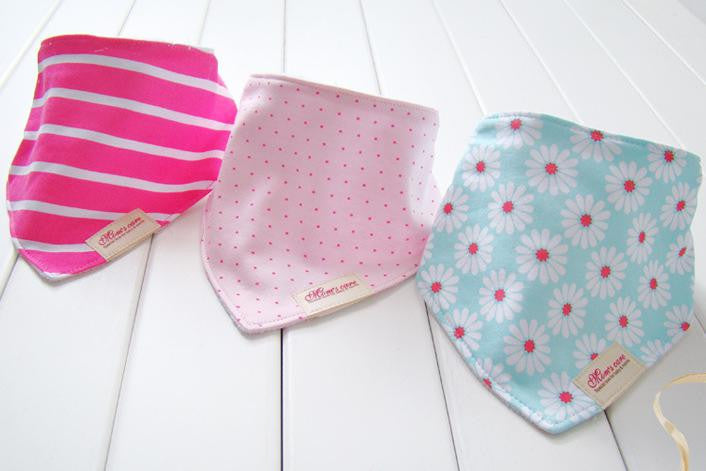 Set of 3 Baby Bandana Drool Mom's Care Bibs A321GC