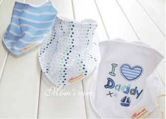 Set of 3 Baby Bandana Drool Mom's Care Bibs A321GE