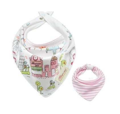 Baby Bandana Drool Mom's Care Reversible Bibs A321IE