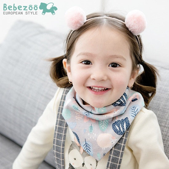 Bebezoo Bandana Drool Bib with Adjustable Snaps A321KE