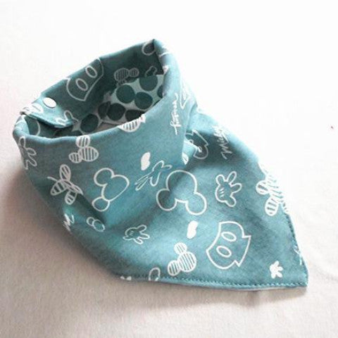 Baby Reversible Bandana Drool Bib Triangle Bib with Adjustable Snaps A321N
