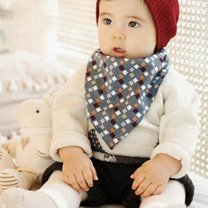 Baby Reversible Bandana Drool Bib Triangle Bib with Adjustable Snaps A321Q