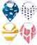 Set of 4 Baby Bandana Drool Bibs with Adjustable Snaps A321QF