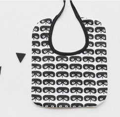 Baby Bandana Drool Bibs Black and White Series A321SA