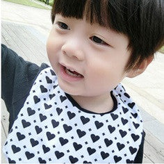 Baby Bandana Drool Bibs Black and White Series A321SC