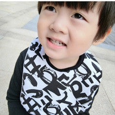 Baby Bandana Drool Bibs Black and White Series A321SD