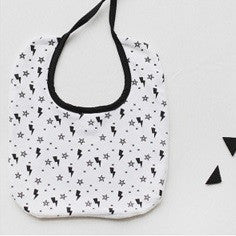 Baby Bandana Drool Bibs Black and White Series A321SE