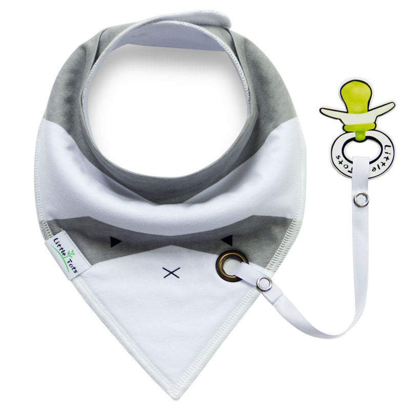 Baby Bandana Drool Bibs with Pacifier Clip Holder A321UD