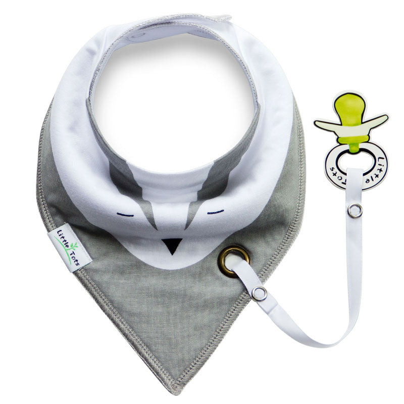 Baby Bandana Drool Bibs with Pacifier Clip Holder A321UI
