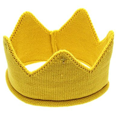 Baby/ Toddler Yellow Cotton Knitted Crown A323C1A