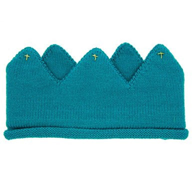 Baby/ Toddler Green Cotton Knitted Crown A323C1B