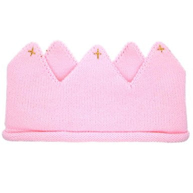 Baby/ Toddler Pink Cotton Knitted Crown A323C1C