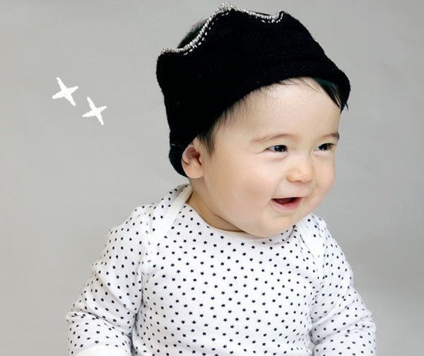 Baby/ Toddler Black Cotton Crown A323C2A