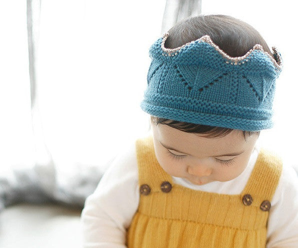 Baby/ Toddler Blue Cotton Crown A323C2C