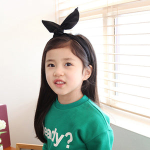 100% Handmade Kids Black Fabric Hairband A323G102H