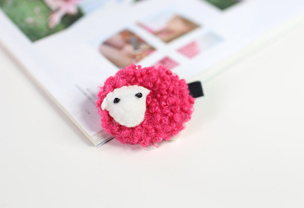 100% Handmade Kids Sheep Hairclips A323G81H/I/J/K/L
