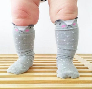 0-4Y Baby/ Kids Knee High Long Socks A3252L6