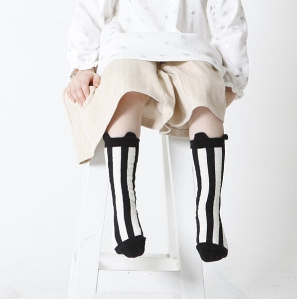 0-4Y Baby/ Kids Knee High Long Socks A3253L5