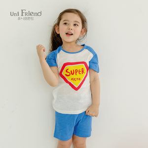2-8Y Kids Superman Homewear 2pcs Set A40411B