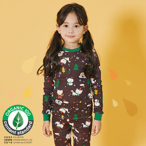 Kids Korea Brand UniFRIEND Organic Christmas Pyjamas 2pcs Set A40424E