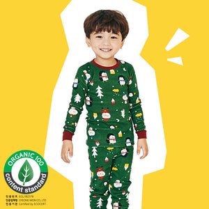 Kids Korea Brand UniFRIEND Organic Christmas Pyjamas 2pcs Set A40424F