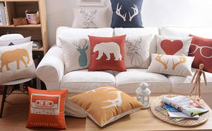Flannel Double Sided Printed Cushion Covers A667C